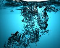 Fresh Water With Bubbles Stock Photos