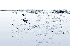 Fresh water with bubbles Royalty Free Stock Photo