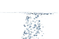 Fresh water with bubbles Royalty Free Stock Images