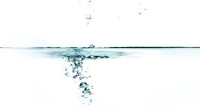 Fresh water with bubbles. Royalty Free Stock Photos