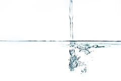 Fresh water with bubbles. Stock Photo
