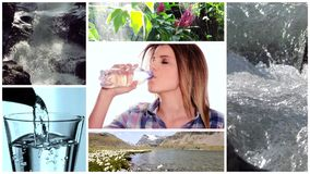 Fresh water collage stock footage