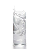 Fresh water in glass with ice Royalty Free Stock Photos
