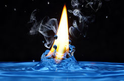 Fresh water hot fire Stock Images