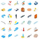 Fresh water icons set, isometric style. Fresh water icons set. Isometric set of 36 fresh water vector icons for web isolated on white background stock illustration