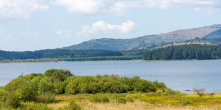 Fresh water lake in the mountains of Serbia Royalty Free Stock Photo