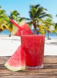 Fresh water melon juice Stock Image