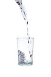 Fresh water pouring into a glass Stock Photo