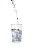 Fresh water pouring into a glass Stock Image