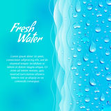 Fresh water promotion ecological poster Stock Photo