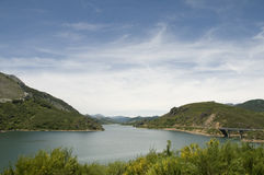 Fresh water reservoir Stock Photos