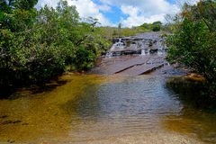 Fresh Water. A river with rapids in Minas Gerais state - Brazil Stock Photo