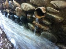 Fresh water from the sierra in Aceguiqa Royalty Free Stock Photography