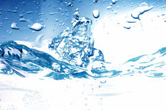 Fresh water splash Stock Images