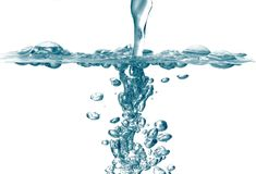 Fresh water splash bubbles Royalty Free Stock Images
