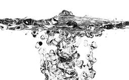 Fresh Water Splash Over White Royalty Free Stock Photos