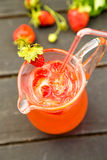 Fresh water with strawberry Royalty Free Stock Images