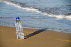 Fresh water on beach Stock Images