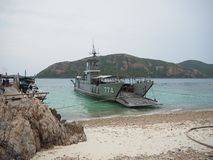 Fresh water transport boat, Ko Kham royalty free stock photo