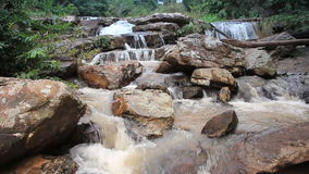Fresh water waterfall stock video footage