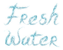 Fresh Water word on white royalty free illustration