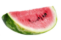 Fresh Watermelon. Portion Of Fresh Watermelon Isolated on White Background royalty free stock photos