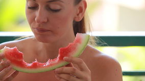 Fresh watermelon stock video footage