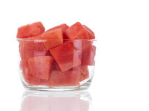 Fresh watermelon bowl with reflection Royalty Free Stock Image