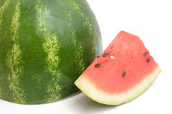 Fresh watermelon. Isolated on white background Stock Image