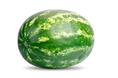 A fresh watermelon isolated on white background. Stock Photography