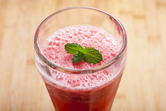 Fresh watermelon juice. A glass of fresh watermelon juice Royalty Free Stock Photo
