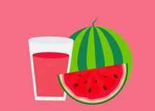 Fresh watermelon juice background vector illustration. EPS10 stock illustration