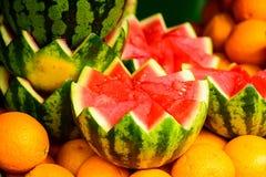 Fresh watermelon and orange Stock Photo
