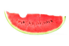Fresh watermelon. Organic and fresh watermelon with one bite Stock Images