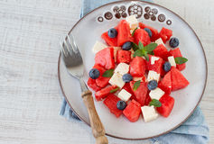 Fresh watermelon salad Royalty Free Stock Photography