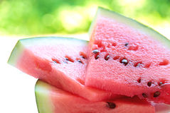 Fresh watermelon slice, close up image Royalty Free Stock Photos