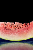 Fresh watermelon slice close up Royalty Free Stock Photos