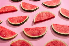 Fresh watermelon slices, arranged in pattern.  Royalty Free Stock Photo