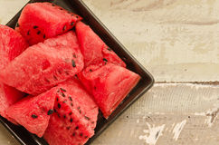 Fresh watermelon slices Stock Images