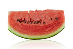 Fresh watermelon slices and white background Stock Photo