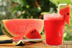 Fresh watermelon smoothie Stock Photo
