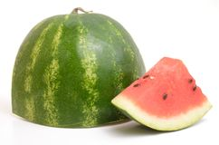 Fresh watermelon. On white background Royalty Free Stock Image