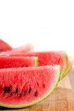 Fresh watermelon on a  wood table Stock Photos