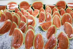 Fresh Watermelons for Sale Stock Photography