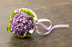 Fresh wedding bouquet on dark background stock photography