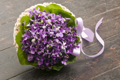 Fresh wedding bouquet on dark background Royalty Free Stock Images