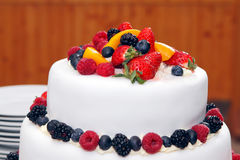 Fresh wedding fruitcake Royalty Free Stock Photos