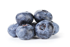 Fresh wet blueberries isolated Stock Photos