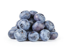 Fresh wet blueberries isolated Royalty Free Stock Photos