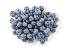 Fresh wet blueberries top view Royalty Free Stock Photo